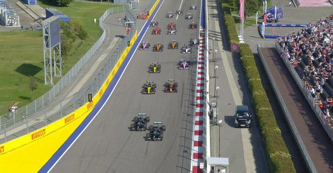 Đua xe F1, Russian GP: Bottas bứt phá, Hamilton không may mắn với án phạt - 1