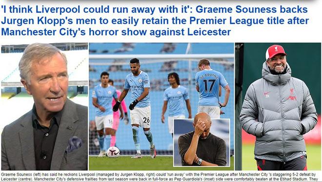 Báo Anh chỉ trích Man City thua tan nát, đặt cửa Liverpool vô địch - 1