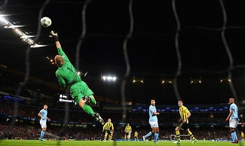 Man City hòa may, Mancini cảm ơn Joe Hart - 1