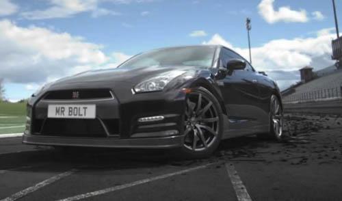 Webber và Usain Bolt thuần hóa Nissan GT-R - 1