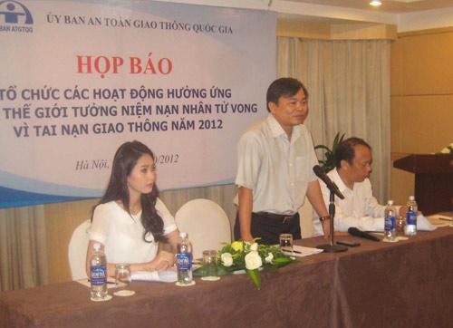 HH Thu Thảo - đại sứ lễ tưởng niệm nạn nhân TNGT - 1