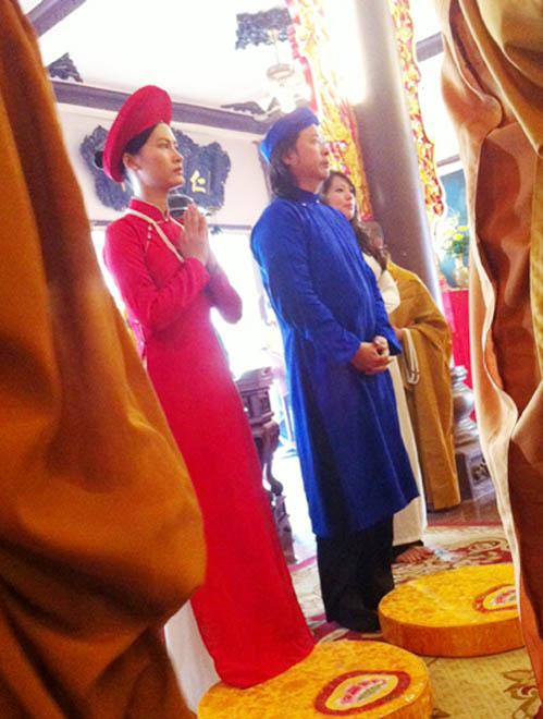 Đỗ Hải Yến lên chùa làm đám cưới - 1