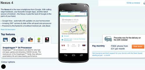 LG Nexus 4 có giá 13,1 triệu đồng - 1