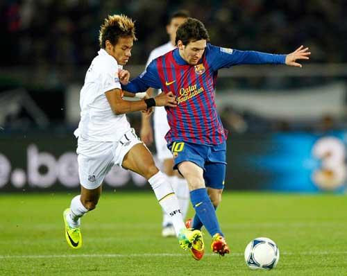 Neymar mơ được chơi bóng cùng Messi - 1