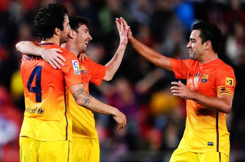 Mallorca - Barca: Messi vượt Pele - 1