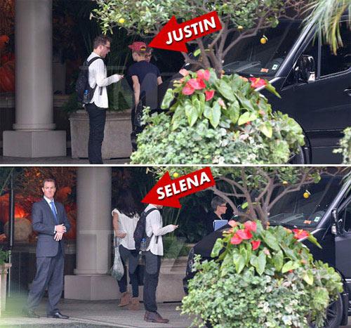 Justin Bieber qua đêm tại nhà Selena - 1