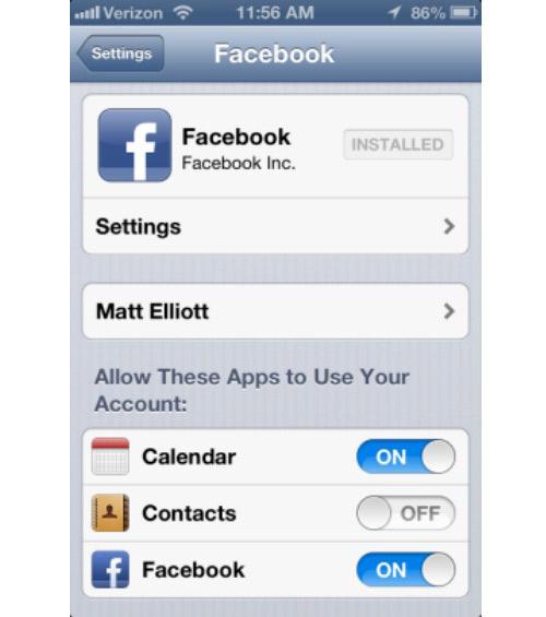 Cách xóa bạn bè Facebook khỏi sổ liên lạc iPhone - 1