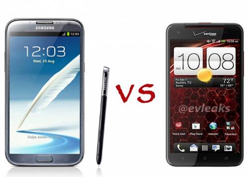Galaxy Note 2 đọ sức HTC DROID DNA - 1