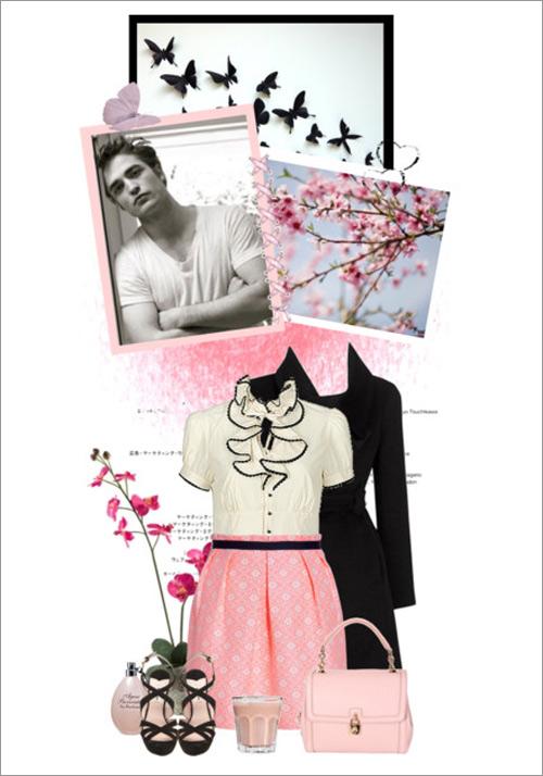 Cách mặc váy pastel ngọt ngào ngày đông - 1