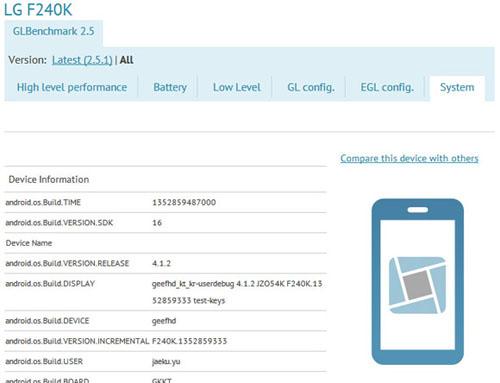 LG F240 màn hình Full HD lộ diện - 1