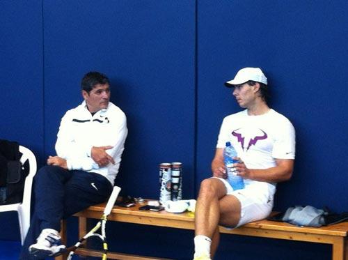 Cận cảnh Nadal tập luyện sau chấn thương - 1