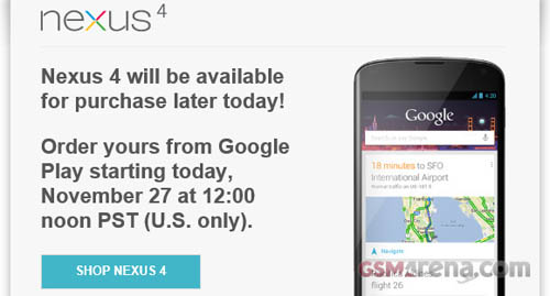 Nexus 4 liên tiếp cháy hàng - 1