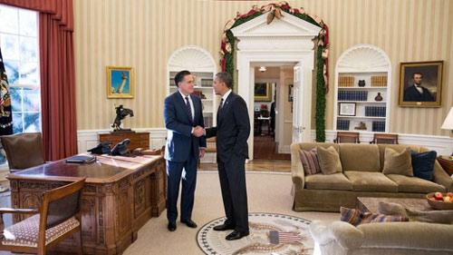 Obama - Romney ăn trưa thân mật tại Nhà Trắng - 1