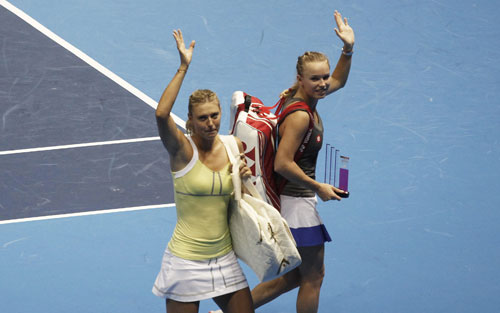 Sharapova và Wozniacki đọ tài khoe sắc - 1