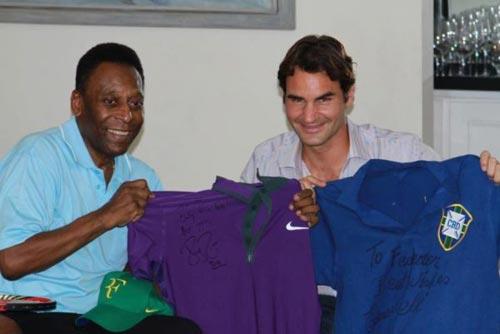 Federer hội ngộ Vua bóng đá Pele - 1