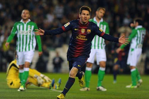 Betis - Barca: Messi lập kỉ lục - 1