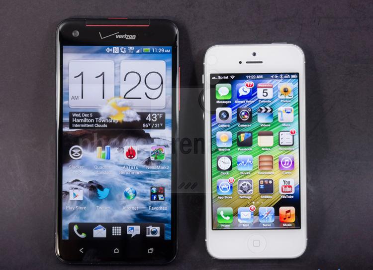 Hai trong số những mẫu điện thoại thông minh hàng đầu hiện nay là iPhone 5 của Apple và HTC Droid DNA vừa được Phonearena đem ra so sánh, để tìm ra người dành chiến thắng.