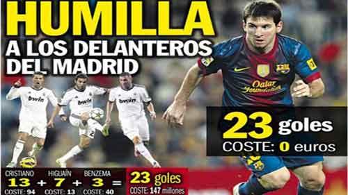 Messi bằng 3 siêu tiền đạo của Real - 1