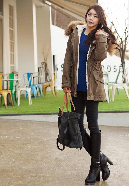 Mặc đẹp như thiếu nữ Hàn ngày lạnh - 1