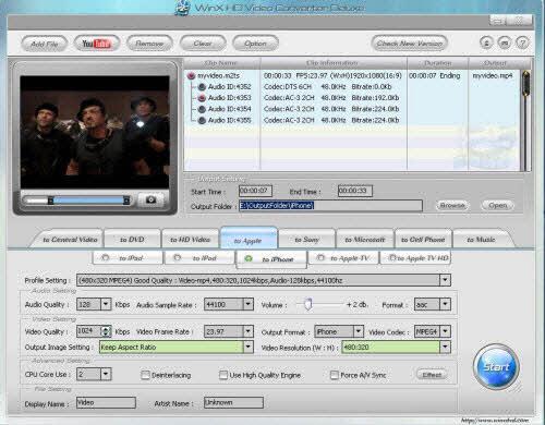 Chuyển đổi định dạng video với WinX HD Video Converter Deluxe - 1