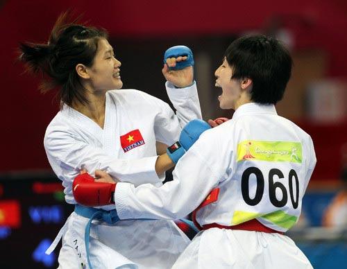 Đương kim vô địch karatedo ASIAD Lê Bích Phương lỡ hẹn SEA Games - 1