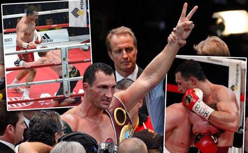 """""""Tiến sỹ búa thép"""" Klitschko hạ gục kẻ thách đấu - 1"""