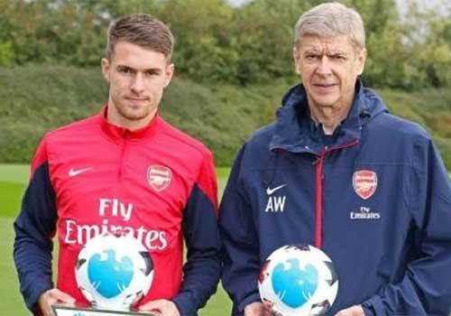 NHA: Wenger, Ramsey xuất sắc nhất tháng 9 - 1