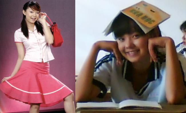 Hình ảnh Minh Hằng ngày trước là một cô gái có thân hình chưa được thon thả như bây giờ.