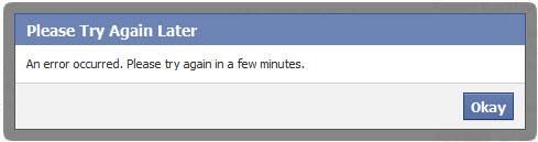 Facebook dính lỗi tối 21/10 - 1