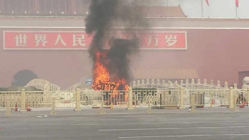 Nổ xe ở Bắc Kinh: Liên quan bạo loạn Tân Cương? - 1