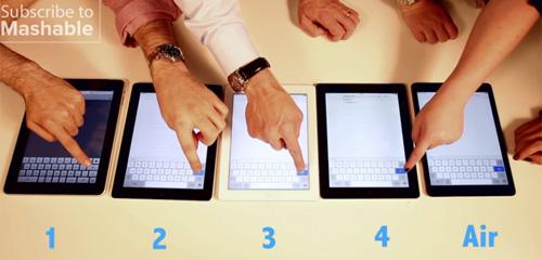 """iPad Air đọ tốc độ lướt web với """"anh em"""" - 1"""