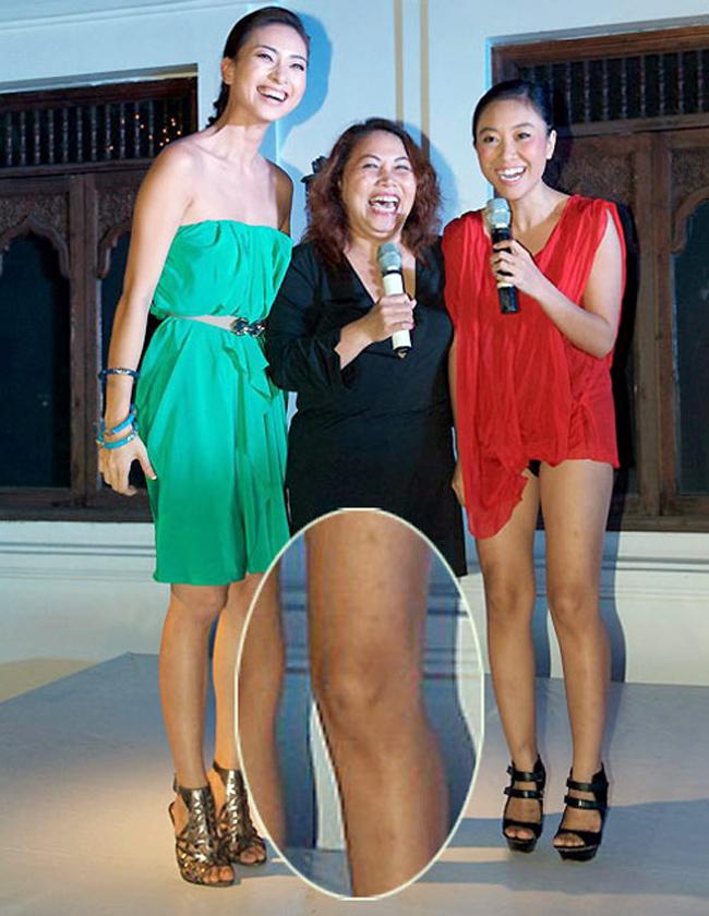 Ca sỹ Đoan Trang với đôi chân không mấy mịn màng láng mượt
