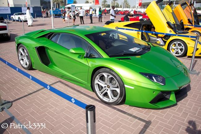 Chiếc Lamborghini Aventador màu xanh nõn chuối bắt mắt