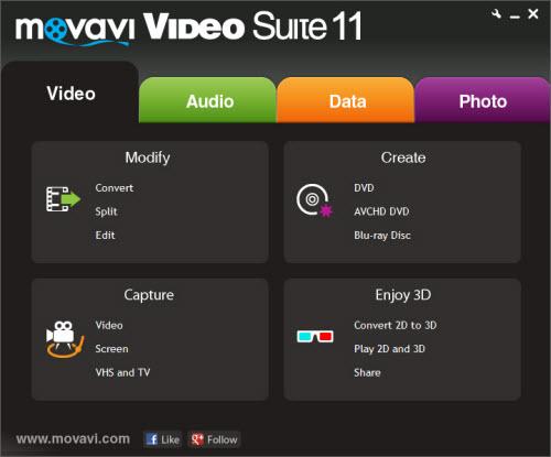 Movavi Video Suite 11: Xử lí dữ liệu đa phương tiện - 1