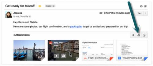 Gmail cho phép lưu thẳng tập tin đính kèm về Google Drive - 1