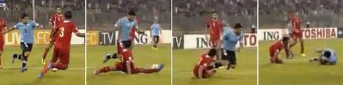 Tiền đạo Suarez có thêm màn ăn vạ - 1