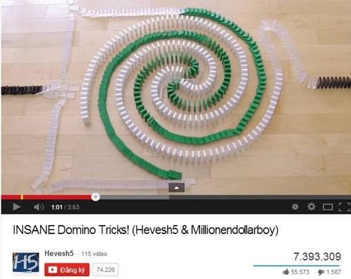 "Top 5 clip: 25.000 miếng domino ""tiêu tan"" trong 3 phút - 1"