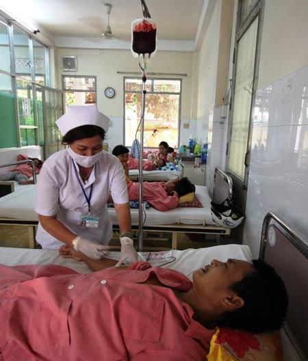 Bệnh nhân mắc sốt xuất huyết giảm tiểu cầu tăng vọt - 1