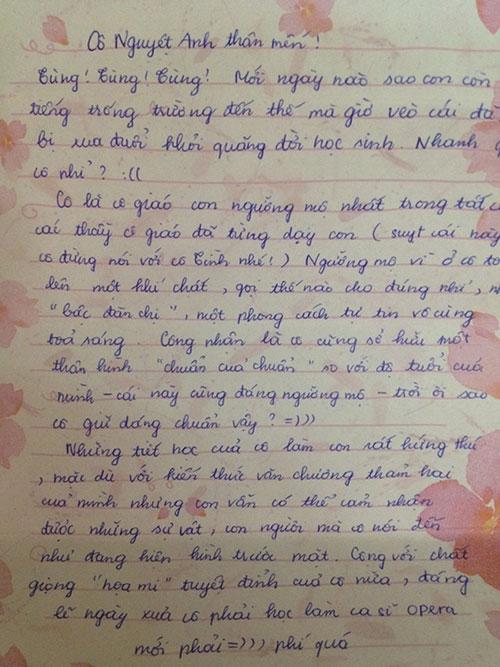 Bức thư ''cute'' gửi cô giáo - 1