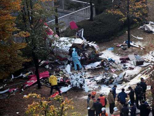 """Trực thăng """"chém"""" cao ốc ở Seoul, 2 người chết - 1"""