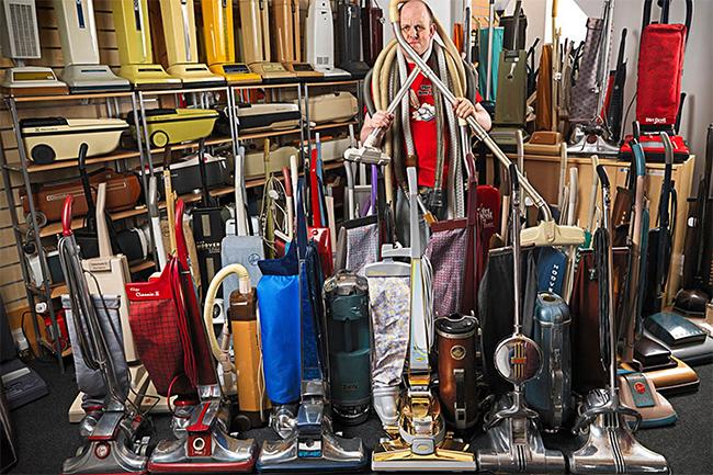 Bộ sưu tập những máy hút bụi lớn nhất với 322 mẫu khác nhau