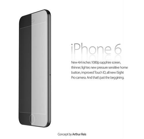 iPhone 6 concept cực đẹp với màn hình bằng đá sapphire - 1