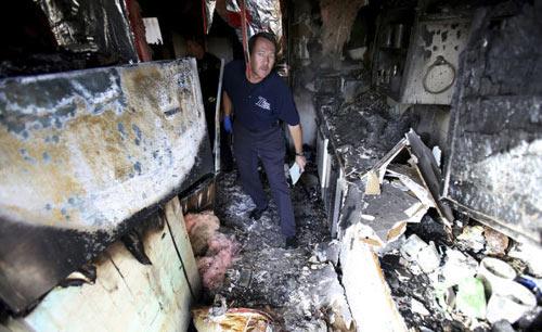 """Mỹ: Chó """"phóng hỏa"""" đốt rụi nhà chủ nhân - 1"""