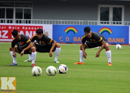 Buổi tập U23 VN: Đẫm nước mắt Thanh Hào - 1