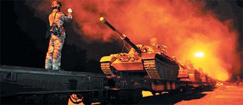 Quân đội TQ dồn dập diễn tập gần Triều Tiên - 1