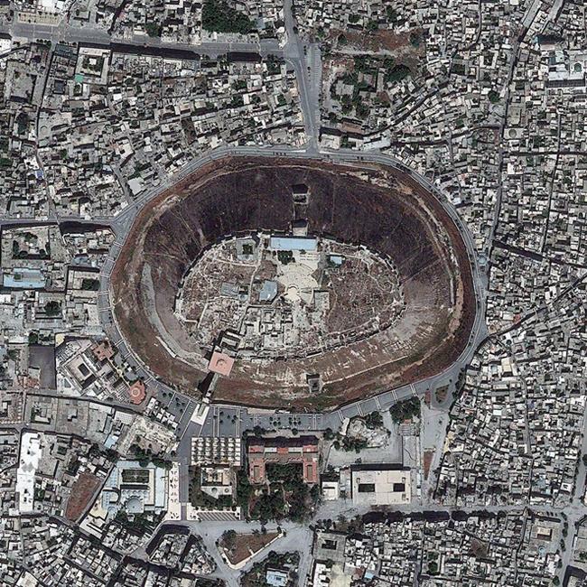 Khu vực Citadel trong lòng thành phố Aleppo, Syria. Ảnh: DigitalGlobe.