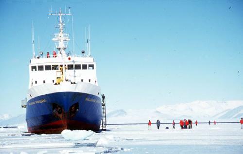 Tàu phá băng Nga kẹt cứng trong băng Nam Cực - 1