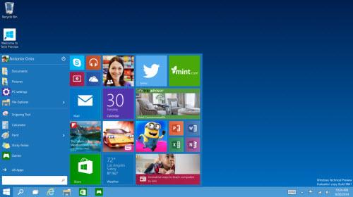"""Ảnh: Xem trước những tính năng """"độc"""" trên Windows 10 - 1"""