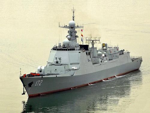 TQ đưa tàu khu trục tên lửa xuống Biển Đông diễn tập - 1