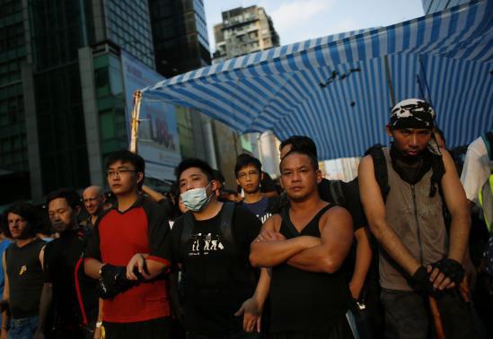 Hong Kong: Người biểu tình đụng độ hội Tam Hoàng - 1